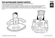 Nutcracker finger puppets printable templates - {Birmingham Royal Ballet}