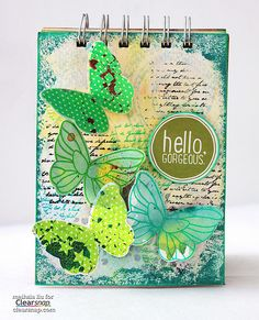"Meihsia shares how to make a ""Spring-y"" mixed media art journal page using  ColorBox Petal Point Pigment inks."