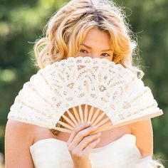 9 Embroidered Polyester, Bamboo Functional bridal accessory to keep you cool Perfect when paired with our Antiqued Battenburg Lace Parasol Antiqued Lace Hand Fan Keep yourself or your guests cool and in g Hand Fans For Wedding, Wedding Hands, Poses, Summer Wedding, Lace Wedding, Luxury Wedding, Wedding Unique, Wedding Ideas, Bridal Lace