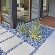 Garden Paving Ideas: I'm picturing a path to the garden bench in the corner. Modern Landscape Design, Modern Landscaping, Contemporary Landscape, Front Yard Landscaping, Landscaping Ideas, Landscape Architecture, Landscaping Software, Modern Design, Landscape Stairs