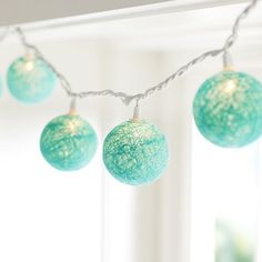 Woven Globe String Lights, Pool at Pottery Barn Teen - Hanging Lights - Rope Lights, Deco Turquoise, Bedroom Turquoise, Turquoise Furniture, Light Turquoise, Aqua Bedrooms, Teen Girl Bedrooms, Master Bedrooms, Teal Girls Rooms, Teenage Girl Bedroom Decor