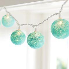 Woven Globe String Lights | PBteen #17BestRoomEver