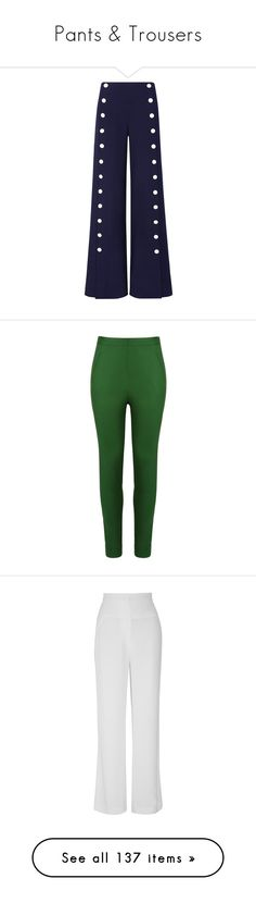 """""""Pants & Trousers"""" by elizabethhorrell ❤ liked on Polyvore featuring pants, trousers, bottoms, jeans, tory burch, navy blue, blue trousers, blue pants, tory burch pants and navy blue pants"""