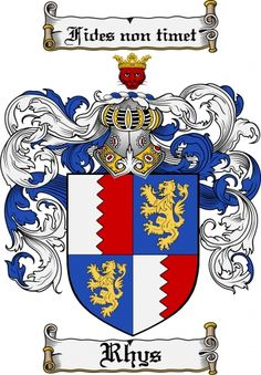 Rhys Coat of Arms Rhys Family Crest Instant Download - for sale, $7.99 at Scubbly