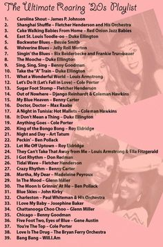 1920s playlist - The ultimate roaring 20s music playlist for your twenties/flapper party!