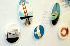 Turn photos into tiny plastic discs (using Shrinky Dink 'technology') for magnets, jewelry and whatever else you can think of!