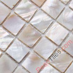 Natural White Mother Of Pearl Tiles Square Chips - Freshwater Shell Tiles - Shell Tiles
