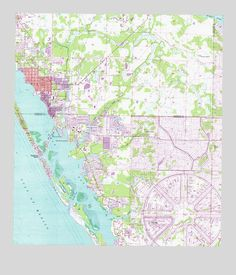 Florida Charlotte Harbor Placida Gasparilla Sound Nautical - Florida topographic map free