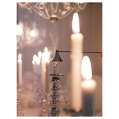 IKEA TRATT candle snuffer Put candles out safely, without splashing or sooting. Candle Lamp, Glass Candle Holders, Candle Lanterns, Tea Light Candles, Tea Lights, Mini Chandelier, Modern Chandelier, Chandeliers, Lighted Glass Blocks