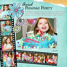 digital scrapbook page ideas birthday | ... pages for adults fun birthday layouts kid s birthday party ideas