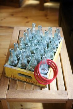 Good fall festival booth idea!  Could spray paint any type of glass bottle.