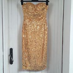 fc604584dcbc Gold Sequin Boohoo Dress Boohoo