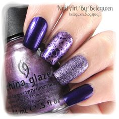 Nail Art by Belegwen: L´oreal 609, China Glaze Harmony and Depend Bluebell.
