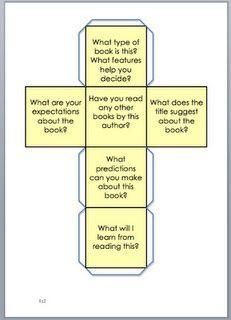 Kostka s otázkami PŘED čtením.