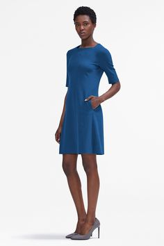 The Emily dress is unmistakably ladylike but can hold its own in a room full of suits. She's the perfect A Line dress to add to your work wardrobe.