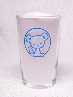 印ミネラル牛乳 くまちゃんグラス
