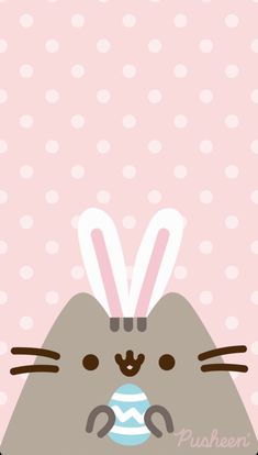 Pusheen the cat floral pastels spring iphone wallpaper Easter bunny<br> Spring Wallpaper, Cat Wallpaper, Kawaii Wallpaper, Iphone Wallpaper, Bff Drawings, Cute Kawaii Drawings, Kawaii Cat, Kawaii Anime, Ostern Wallpaper