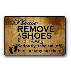 New Custom Please Remove Your Shoes Printed Door mat Home decor Non-slip Carpet