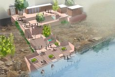 Image 5 of 23 from gallery of Massive River Development Plan Hopes to Rejuvenate India's Relationship to the Ganges. Photograph by Morphogenesis Master Plan, Urban Design, Outdoor Furniture, Outdoor Decor, Sun Lounger, Relationship, River, How To Plan, Landscape