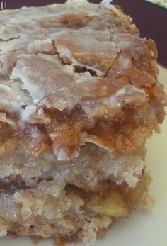 Apple Fritter Cake - for Todd and will have to make when Janice comes