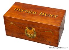 Hunt Box - Hand Painted Antique Mahogany Box - Circa 1890 - Oxford Hunt - Read more on The Website - Thanks - http://fennelly.net/Antiques/Newest%20Listings%20-%20Art%20and%20Antique%20Gallery%20Dublin/109%20Hunt%20Box%20-%20Painted%20Antique%20Mahogany%20Box%20-%20Circa%201890%20-%20Oxford%20Hunt.aspx — at Martin Fennelly Art & Antiques.
