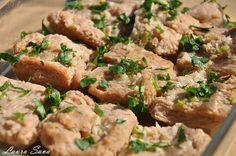 Snitele de soia la cuptor | Retete culinare cu Laura Sava - Cele mai bune retete pentru intreaga familie Mai, Chicken, Food, Essen, Meals, Yemek, Eten, Cubs