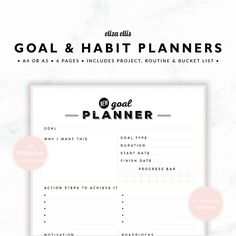 PLANNER ESSENTIALS - GOAL AND HABIT PLANNERS - THE HARLOW PLANNERS IN PERFUME  Achieve your dreams! Goals, habits, projects, routines, bucket list... this set of planners has everything you need to start living the life you want!  > SPEND $20 AND GET 20% OFF!!! JUST USE CODE PERFECTPLANNER  > FEATURES  ▪️ roomy goal to a page planner ▪️ habit tracker with 21 day countdown boxes ▪️ flexible project planner - great for diy, craft, business and