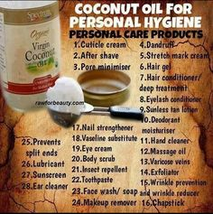 Many uses of Coconut Oil