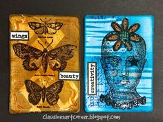 Claudine's Art Corner: Altered Playing Card Challenge Week 23