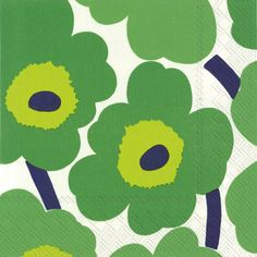 Unikko Luncheon Napkins Green
