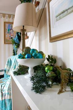 close up of bedecked entrance hall table © The Gracious Posse