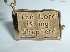 14K YELLOW GOLD LORD IS MY SHEPHERD BIBLE BOOK CHARM PENDANT ~ 5.3 grams ~ $249.99