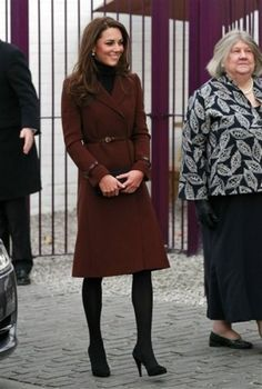 Kate Middleton in brown on Valentine's Day.