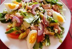 Fish Recipes, My Recipes, Salad Recipes, Healthy Recipes, Healthy Dinners, Avocado, Clean Eating, Good Food, Yummy Food