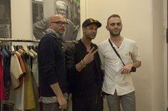 Cristiano Gatto - Direttore Artistico, Andrea Amara - Fashion Stylist, Matteo Bryzio - giovane creativo dell moda ligure