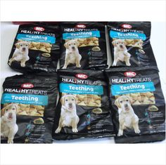 Pack of 6 x 50 Gram Packs M&C Healthy Teething Treats for Puppies Listing in the Dental,Treats,Dogs,Pets,Home & Garden Category on eBid United Kingdom