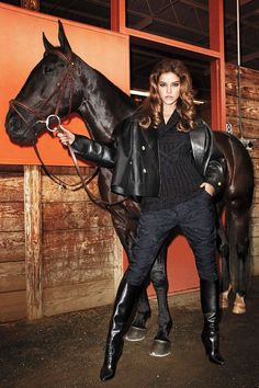 Horses in Bazaar Editorials - Chinese New Year, Year of the Horse Riding Boots Fashion, Leather Riding Boots, Terry Richardson, Equestrian Style, Equestrian Fashion, Burberry Prorsum, Barbara Palvin, Harpers Bazaar, Fashion Editor