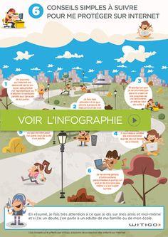 Infographie : 6 conseils à destination des enfants pour se protéger sur Internet ! #WITIGO