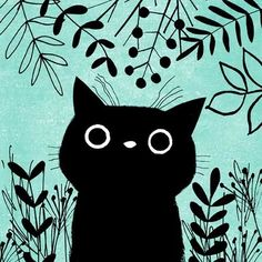 Illustrations of cute cats and non-cats by Angie Rozelaar, a British illustrator based in Normandy, France