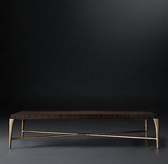 Etienne Occasional Collection- Brass Espresso | RH Modern