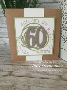 Stampin Up 60 Geburtstag Stampinup Number Of Years Letters For