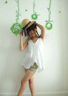 Hello Summer with Cotton Halter Top in white by LadyTA on Etsy, $29.00