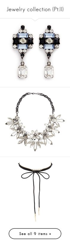 """""""Jewelry collection (Pt.II)"""" by vladoslav ❤ liked on Polyvore featuring jewelry, earrings, accessories, stud earrings, swarovski crystal jewellery, diamond shaped earrings, oxidized jewelry, dannijo earrings, necklaces and colliers"""