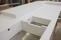 Corian Sink, but I don't like the dip in between