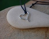 Heart Shaped Carabiner Pendant - Sterling Silver