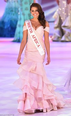 Talented:Medical student Strauss  was crowned by the outgoing Miss World, Megan Young of ...