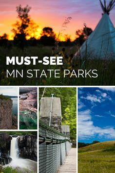Must See Minnesota State Parks.s the best Minnesota State Park to see the waterfalls? Most unique stay? Camping Places, Places To Travel, Places To See, Camping Gear, Camping Cabins, Camping Equipment, Backpacking, Vacation Destinations, Vacation Spots