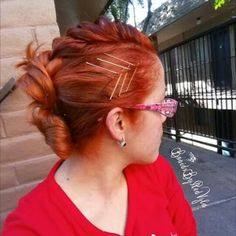 Open French Braid Mohawk with Buns