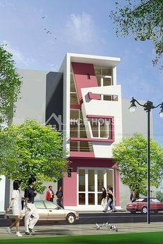 Thiết kế nhà phố 3 tầng hiện đại đẹp Building Elevation, Building Exterior, House Elevation, Building Facade, Building A House, Modern Exterior, Exterior Design, Front Elevation Designs, Independent House