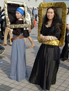 Girl With A Pearl Earring and Mona Lisa Halloween Costumes